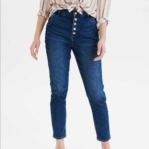 American Eagle High Rise Button Fly Mom Jeans